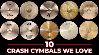 10 Crash Cymbals Compared - Which is Best For You?