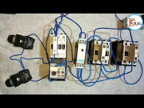 Star Delta Starter ki Control Wiring कैसे करते है। Electric Guru
