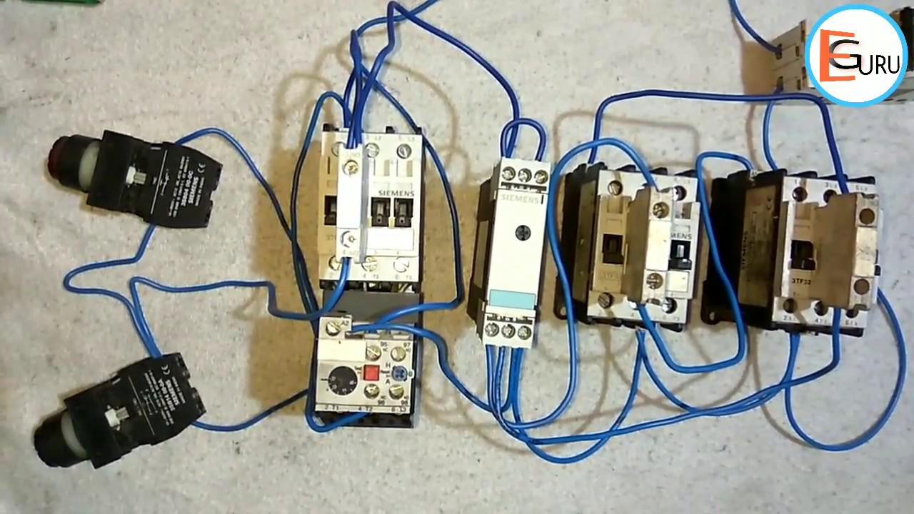 star delta starter ki control wiring electric guru [ 1280 x 720 Pixel ]