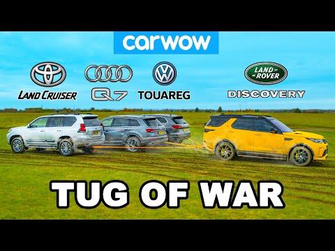 Toyota Land Cruiser, Audi Q7 & VW Touareg vs Land Rover: TUG
