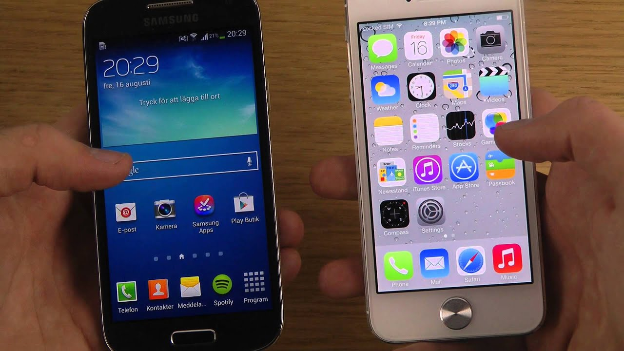 samsung galaxy s4 vs iphone 6 ita