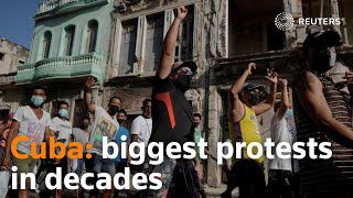 Cuba sees biggest protests for decades as pandemic adds to woes