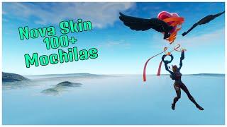 SHOWING THE * NEW * SKIN CAVEIRINHA & 100 + BACKPACKS | FORTNITE