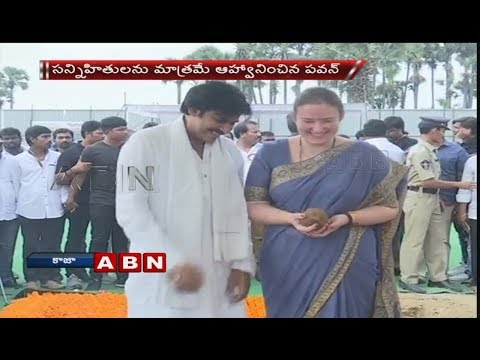 Pawan Kalyan Along With His Wife Performs Bhoomi Puja For New House In Guntur | Part 3 | ABN