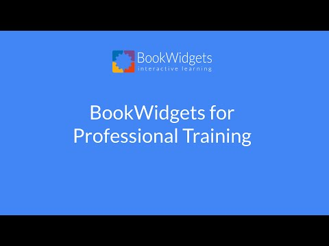 BookWidgets for Professional Training
