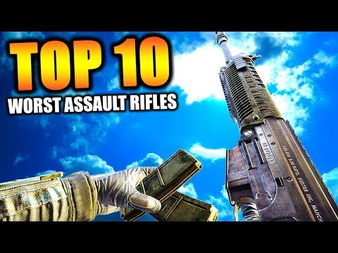 "Top 10 ""WORST ASSAULT RIFLES"" in COD HISTORY 