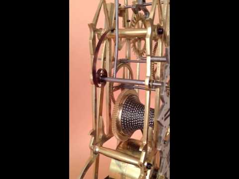 English Fusee Skeleton Clock - Antique Clocks