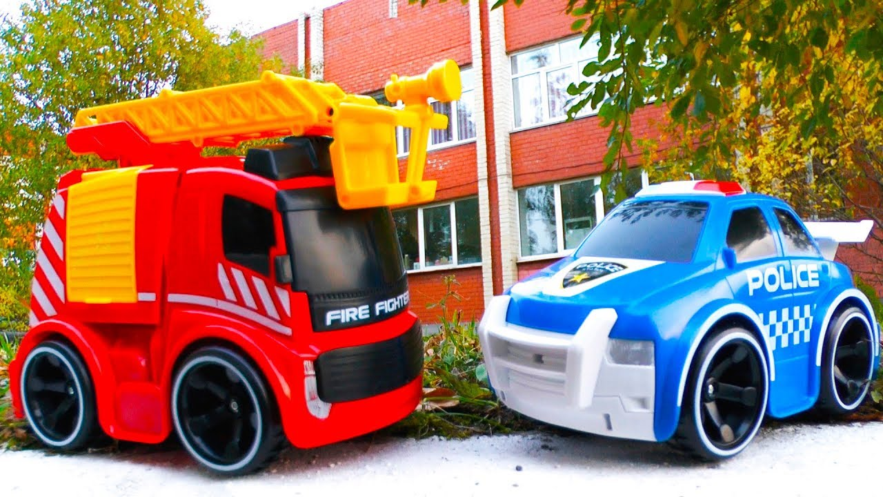 Пожарная и Полицейская Машинки Tooko Игрушки Silverlit