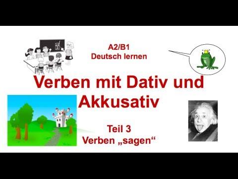 german grammar verben mit dativ und akkusativ verben mit zwei objekten teil 3 youtube. Black Bedroom Furniture Sets. Home Design Ideas