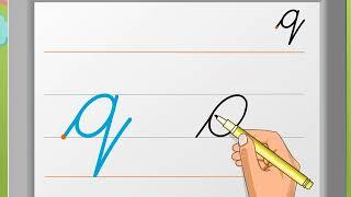 Cursive Writing | Small Letter 'q' | Macmillan Education India