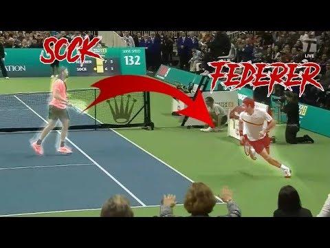 Roger Federer vs Jack Sock - Match for Africa 5 Highlights HD