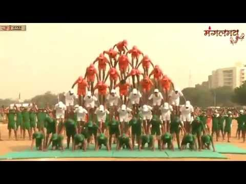 Amazing Pyramid Performance by Students of Sant Shri Asaramji Bapu Gurukul