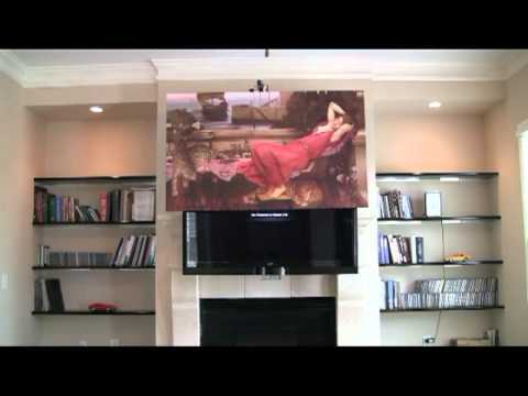 Motorized Drop Down Television Mount Youtube