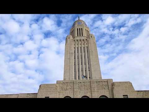 Downtown Lincoln And Lincoln Nebraska Capitol Building