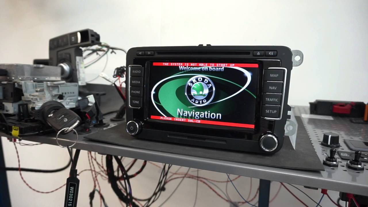 DVD / TV-spärr upplåsning (avaktivera) i VW RNS510