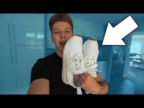 HOW TO CLEAN WHITE TRAINERS/SNEAKERS!