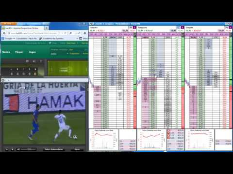 Evoluir!!! Trading Live Betfair Levante - Zaragoza Liga BBVA HD Part 1