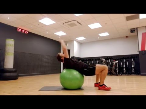 Swiss Ball Back Stretch (Cure Lower Back Pain & Sciatica)