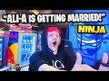 Ninja Reacts To Ali-A Getting MARRIED & Imitates Him | Fortnite Daily Funny Moments Ep.290