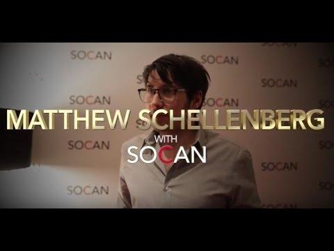 Matthew Schellenberg with SOCAN