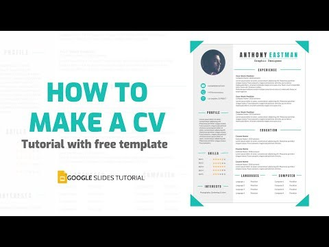 How to make a Professional CV with free Template | Google Slides