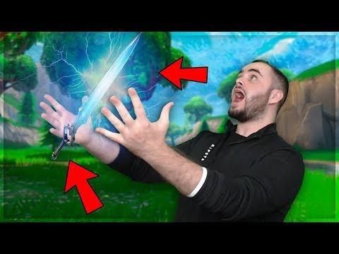 החרב האלוהית הגיע לפורטנייט - הילדים השתגעו !