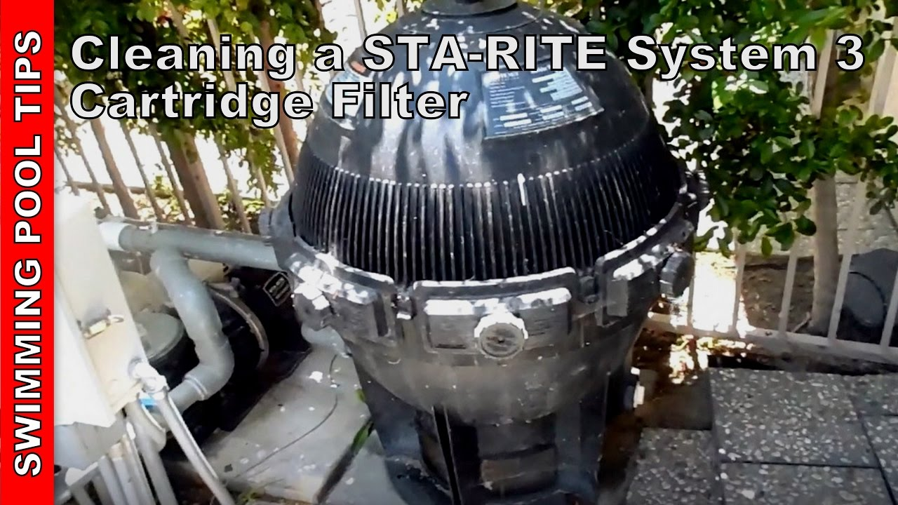 Sta Rite System 3 Cartridge Filter Cleaning Youtube