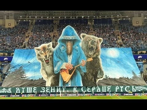 Amazing 3d Tifo By Zenit St Petersburg Against Rb Leipzig 0 2 Cl 05 11 2019 Youtube