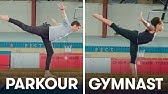 Parkour Experts Try to Keep Up With Gymnasts   SELF