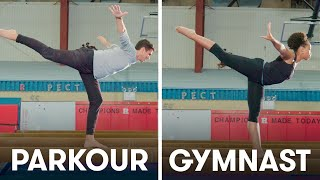 Parkour Experts Try to Keep Up With Gymnasts | SELF