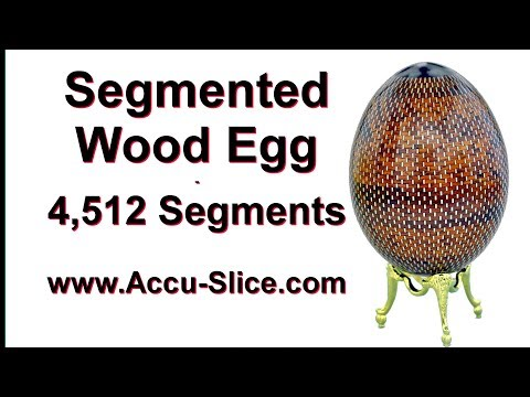 Segmented Wood Egg - 4,500 Wood Segments