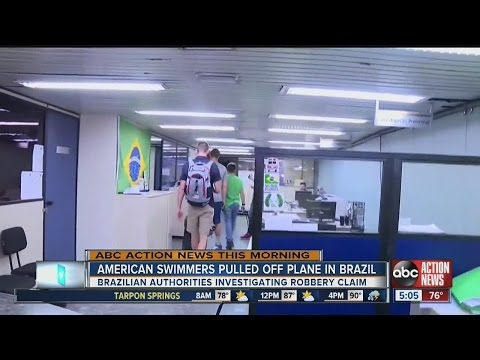 American swimmers pulled off plane in Brazil