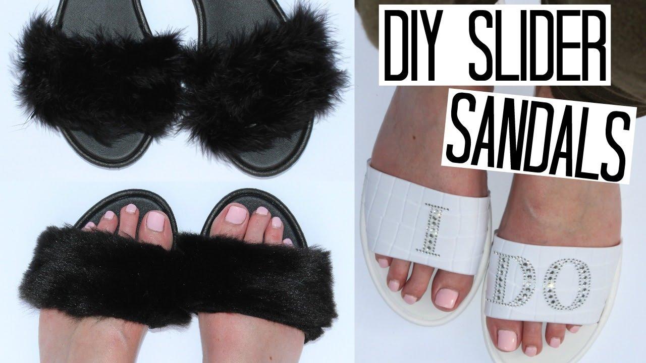 DIY Slider Sandals! - Rihanna Fur Inspired 77836d33c