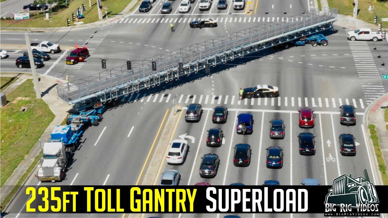 Toll Gantry Superload - Buchanan Hauling & Rigging