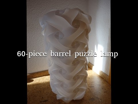 Puzzle lamp barrel / cylinder  30 / 60 / 90 pieces - easy / slow tutorial!