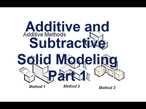 Additive and Subtractive Solid Modeling Part 1