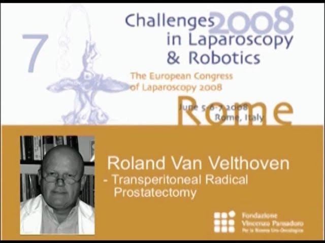 CILR 2008 - Roland Van Velthoven - Transperitoneal radical prostatectomy