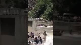 views Neelum Valley Bridge Accident Video Footage