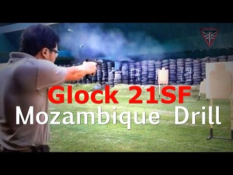Glock 21 SFP (.45) in The Mozambique Drill @ 7 yards Best Down Zero 1.88 second by YotRawee