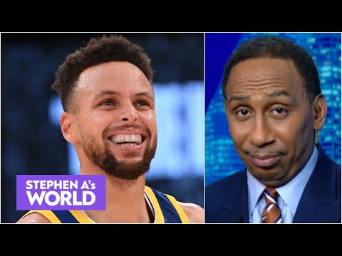 Stephen A. LOVES Steph Curry's deep 3 over AD & Kendrick Perkins' son dominating | Stephen A's World
