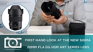 UNBOXING REVIEW | SIGMA 20mm F/1.4 DG HSM Art Lens For CANON