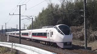 常磐線 E657系K6編成「花丸遊印録」ラッピング 5M 特急ひたち5号 いわき 行 岩間~友部 通過 2019.03.10