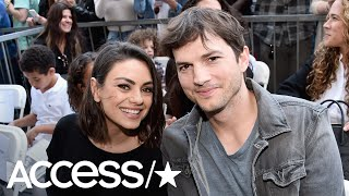 Watch Ashton Kutcher And Mila Kunis Joke About Marriage Ending To Mock Tabloid Cover | Access