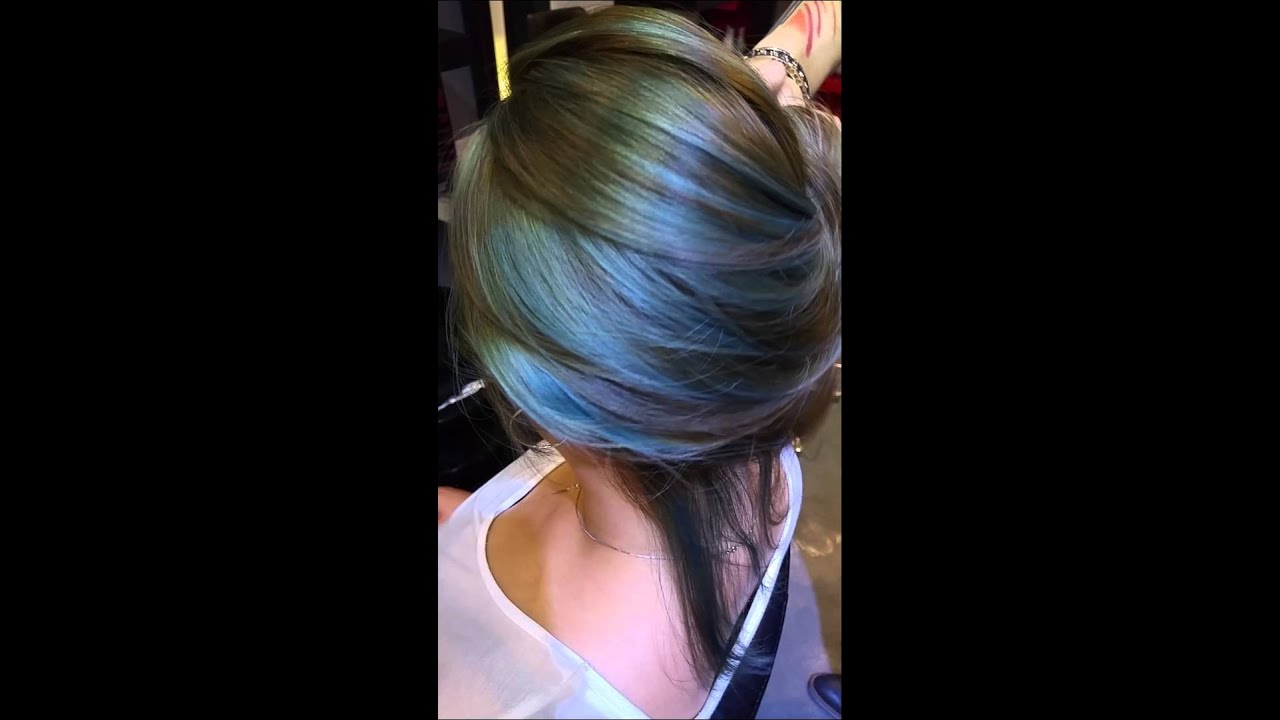 Asian Hair Color Blue Green Ash Youtube