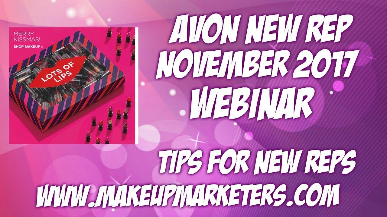 Avon New Rep November 2017 Webinar - YouTube
