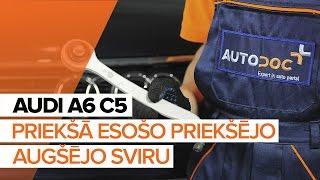 aizmugurē un priekšā Svira uzstādīšana AUDI A6 Avant (4B5, C5): bezmaksas video