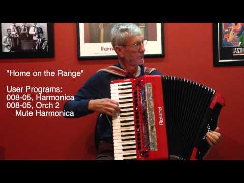 """""""Country"""" Music with Roland FR-8x Digital Accordion User Programs by Richard Noel"""