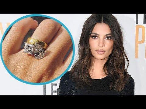 Emily Ratajkowski Reveals Massive DoubleStone Engagement Ring