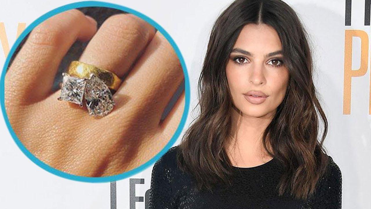 Emily Ratajkowski Reveals Mive Double Stone Engagement Ring