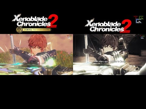 Xenoblade Chronicles 2: Flashback Scene 1 - Main Game vs Torna The Golden Country